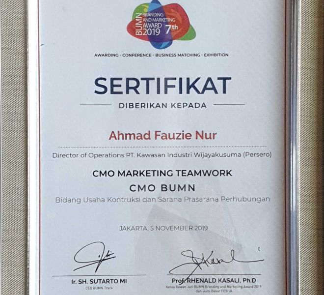 KIW BUMN Branding & Marketing Award 2019
